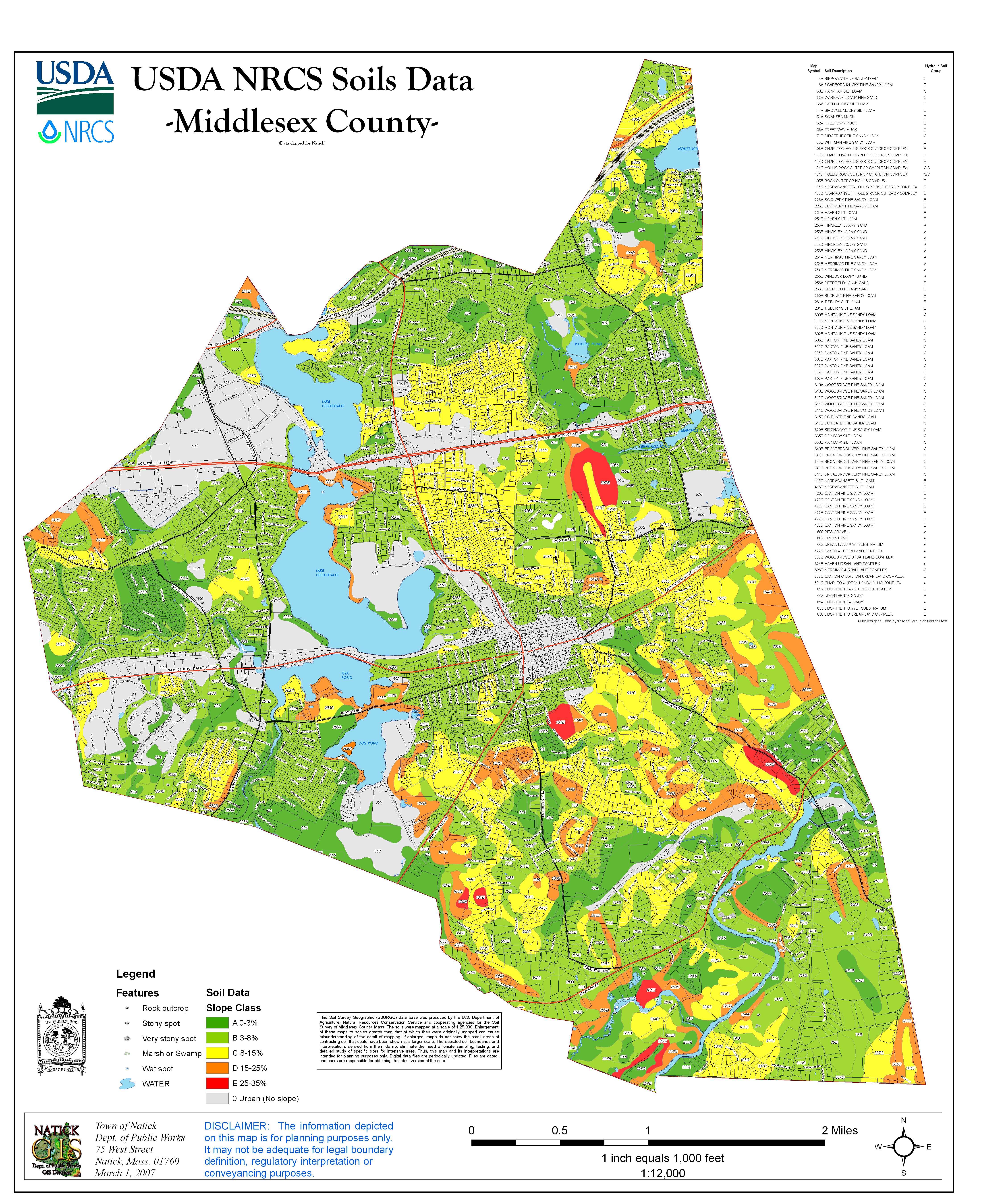 soils map . natick ma  official website