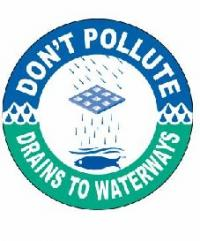 Dont Pollute Drains to Waterways Logo