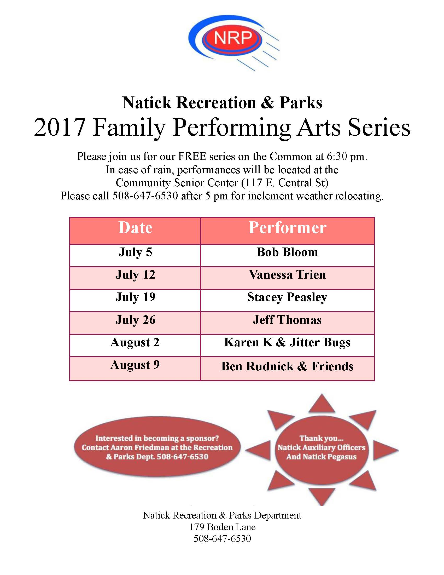 Family Performing Arts Series 2017