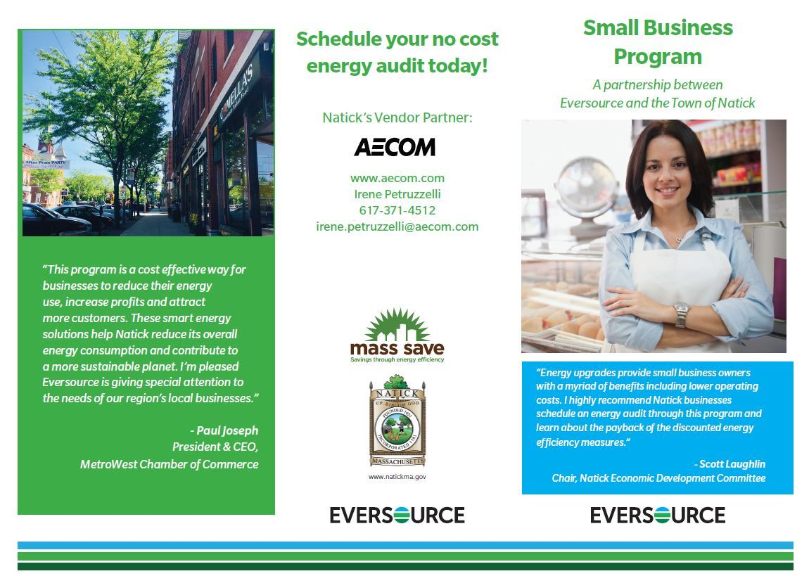 Small Business Energy Efficiency Brochure Page 1