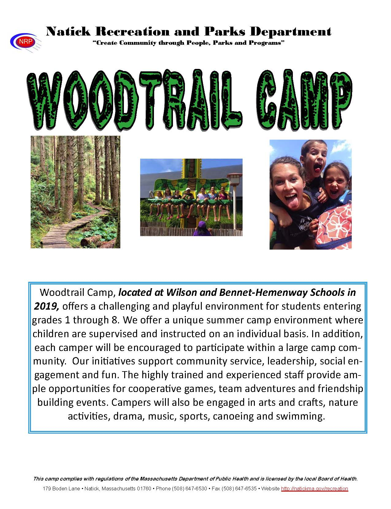 Woodtrail 2019 Brochure Cover