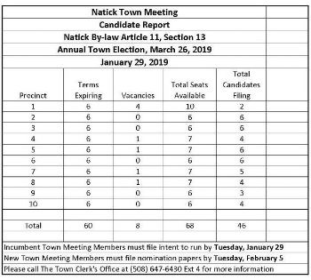 town meeting candidate reports 2019 (jan 29)